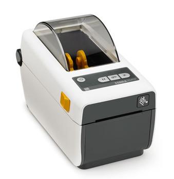 "Zebra Technologies ZD41H22-D01E00EZ Series ZD410 Direct Thermal Healthcare Desktop Printer, 203 DPI, 2"", US Power Cord, USB 2.0, USB Host, BTLE, Ethernet Module, EZPL"
