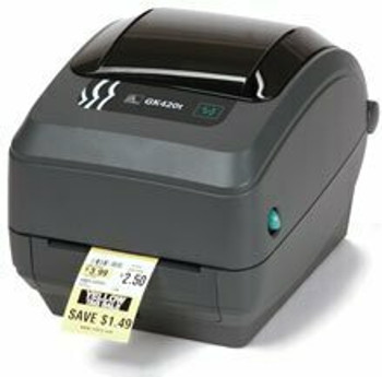 Zebra - GK420d Direct Thermal Desktop Printer for labels, Receipts, Barcodes, Tags, and Wrist Bands - Print Width of 4 in - USB, Serial, Ethernet and Parallel Connectivity - GK42-202210-000