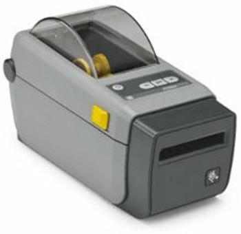 "Zebra -Desktop Label Printer, Zebra ZD410, Direct thermal, 300 dpi, 2"" Print width, 4"" Per Second Print speed, Standard EZPL, USB Interface, Modular Connectivity Slot, Includes US Cord and USB Cable. ZD41023-D01000EZ"