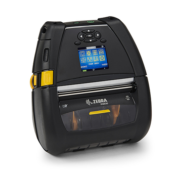 "Zebra ZQ63-AUFB000-00 Portable Barcode Printer Zebra ZQ630 - Direct thermal Printer, ZQ630, 4"" Print width, English/Latin fonts, Bluetooth 4.x, Linerless platen, 1.375"" core, Group 0, Belt clip."