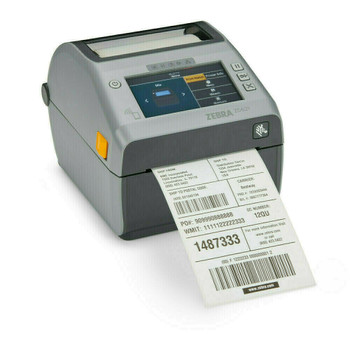 "ZD621 Direct Thermal 4"" Width Printer; Color Touch LCD; 300 dpi, USB, USB Host, Ethernet, Serial, 802.11ac, BT4, USA/Canada, Cutter, US Cord, Swiss Font, EZPL, ZD6A143-D21L01EZ"