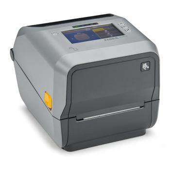 "Zebra ZD621 - Thermal Transfer Printer, ZD621 Thermal Transfer 4"" Print Width Desktop Printer (74/300M) Color Touch LCD; 203 dpi, USB, USB Host, Ethernet, Serial, BTLE5, Cutter, US Cord, Swiss Font, EZPL - ZD6A142-321F00EZ"