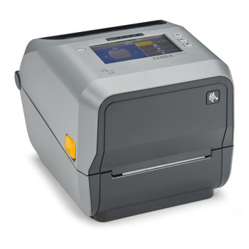 "ZD621 Thermal Transfer 4"" Print Width Desktop Printer (74/300M), Zebra ZD621 - Color Touch LCD; 300 dpi, USB, USB Host, Ethernet, Serial, 802.11ac, BT4, USA/Canada, Dispenser (Peeler), US Cord, Swiss Font, EZPL- ZD6A143-311L01EZ"