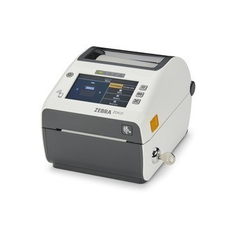 Zebra ZD621 Direct Thermal Healthcare Desktop Printer - Locking, Color Touch LCD; 203 dpi, USB, USB Host, Ethernet, Serial, BTLE5, Cutter, US Cord, Swiss Font, EZPL - ZD6AL42-D21F00EZ