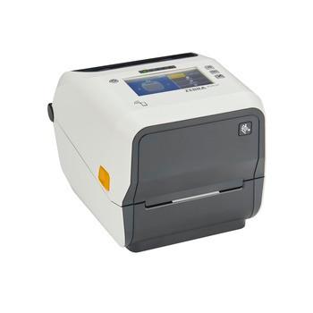Zebra ZD621 Thermal Transfer Healthcare Desktop Printer - Thermal Transfer(74/300M), Color Touch LCD; 300 dpi, USB, USB Host, Ethernet, Serial, BTLE5, US Cord, Swiss Font, EZPL - ZD6AH43-301F00EZ