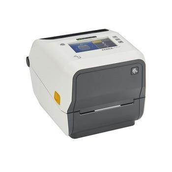 Zebra ZD621 Thermal Transfer Healthcare Desktop Printer - Thermal Transfer(74/300M), Color Touch LCD; 203 dpi, USB, USB Host, Ethernet, Serial, BTLE5, US Cord, Swiss Font, EZPL - ZD6AH42-301F00EZ
