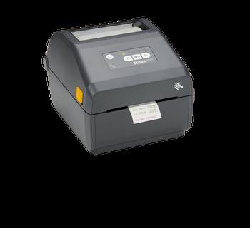 "Zebra ZD421 Direct Thermal 4"" Print Width Desktop Printer - 300 dpi, USB, USB Host, Modular Connectivity Slot, BTLE5, US Cord, Swiss Font, EZPL - ZD4A043-D01M00EZ"