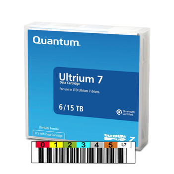 Quantum LTO 7 Tape with Custom Barcode Label (BaFe) MR-L7MQN-01-BC
