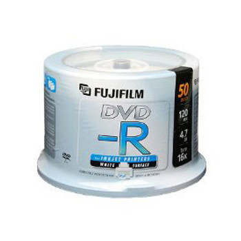 Fuji DVD-R Disc 4.7GB 1x/16x White Inkjet Printable