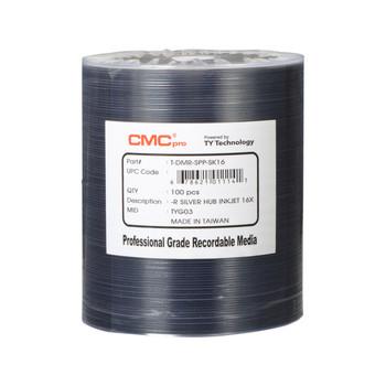 CMC Pro DVD-R Disc 4.7GB, 16x Silver Inkjet Hub Printable