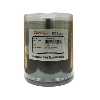 CMC Pro CD-R Disc Silver Inkjet Printable  T-CDR-SYP-SB