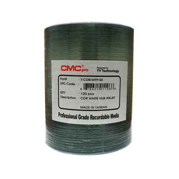CMC Pro CD-R Disc White Inkjet Hub Printable 48X 700mb/80min