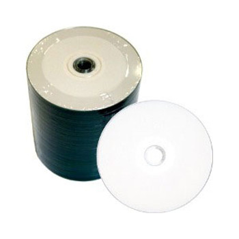 Spin-X CD-R 52x White InkJet Hub Printable Disc 80R52SNG-WIH100B