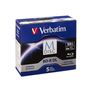 Verbatim M-Disc BD-R DL 50GB 6x Blu-ray Discs (Jewel Case, 5-Pack) 98923