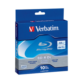 Verbatim 50GB 6x Blu-ray Disc BD-R DL (10-Pack Spindle) 97335