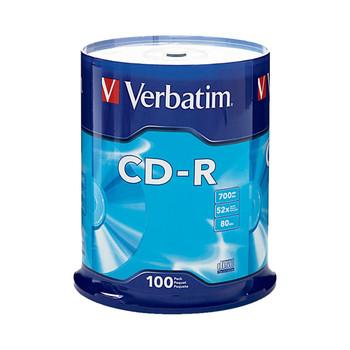 Verbatim 94554 CD-R 80MIN 700MB 52X, Spindle of 100