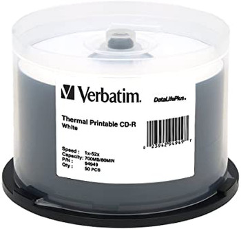 Verbatim CD-R White Thermal Printable - 94949 Everest Compatible