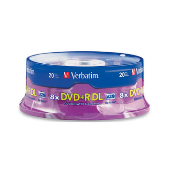 Verbatim 95310 DVD+R DL 8.5GB 8X with Branded Surface 20 Disc Spindle