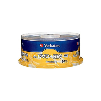 Verbatim 94834 DVD+RW 4.7GB 4X 94834 Branded Surface - 30 Disc Spindle