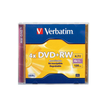 Verbatim 94520 DVD+RW 4.7GB 4x Speed DataLifePlus In Jewel Case
