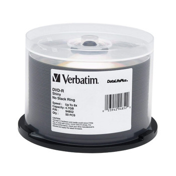 Verbatim 94852 DVD-R Disc 4.7GB 8x Shiny Silver Surface DataLifePlus