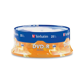 Verbatim 95058 DVD-R 4.7GB 16X Branded - 25 Disc Spindle