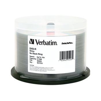 Verbatim 95203 DVD-R 4.7GB 16x Shiny Silver Surface DataLifePlus 50 Disc Spindle
