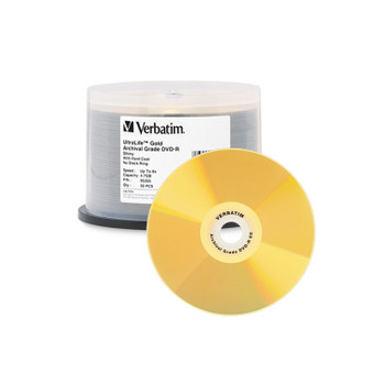 Verbatim 95355 UltraLife Gold Archival Grade DVD-R 4.7GB 8x - 50 Disc Spindle