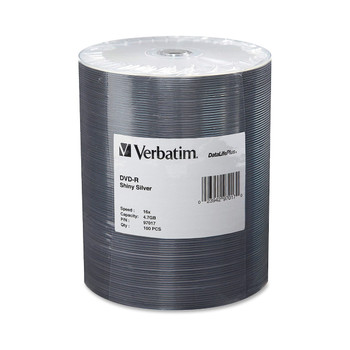 Verbatim DVD-R 97017 4.7GB 16X DataLifePlus Shiny Silver Tape Wrap 100 Disc Spindle