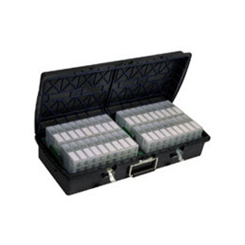 XpresspaX LTO Tape Storage Case in Charcoal Gray , Holds 36 LTO Tapes in their Cases