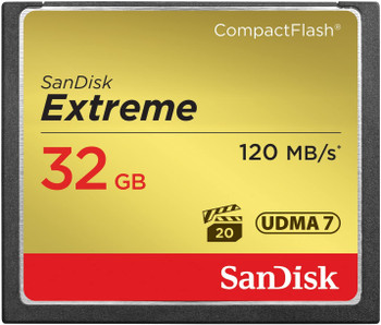 SanDisk 32 GB Extreme CompactFlash Card SDCFXS-032G-A46