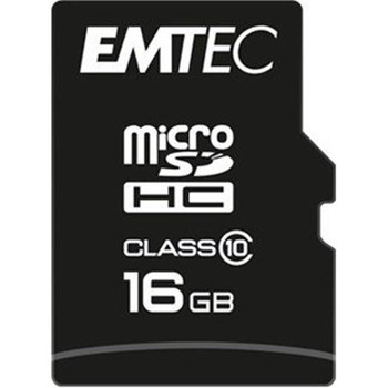 EMTEC Micro SD Memory Card 16GB Class 4 with SD Adapter EKMSDM16GB60XHC