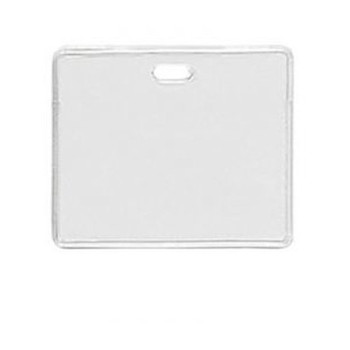 Brady People ID 1840-5010 Clear Vinyl - Horizontal - Proximity Badge Holder w/ Slot - 100 per pack