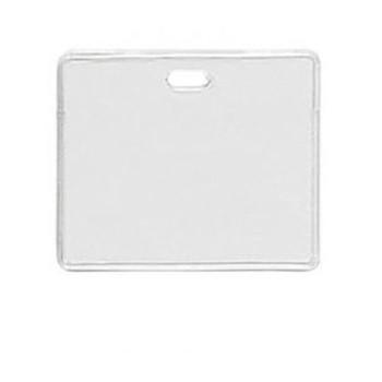 Brady People ID 1840-5010 Clear Vinyl - Horizontal - Proximity Badge Holder w/ Slot - 100 per pack