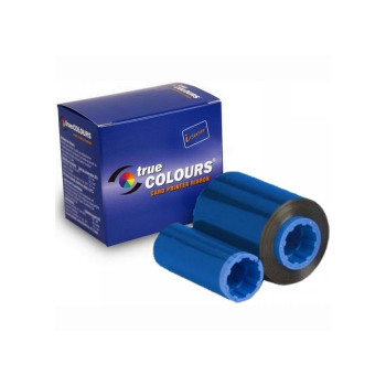 Zebra 800015-104 TrueColours C Series Blue Monochrome Ribbon for P300, P310F, P310C, P400, P420C, P500, P520C, P600 Card Printers - 1000 Prints