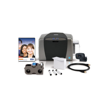 Fargo DTC1250e Single-Sided ID Card Printer System with Asure ID Solo - Fargo 50600