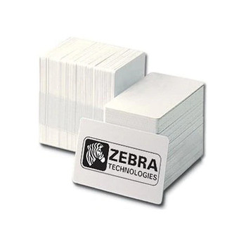 ZEBRA 104523-111 Premier PVC Card, Standard White, CR80 30 mil ID cards - Box of 500 cards