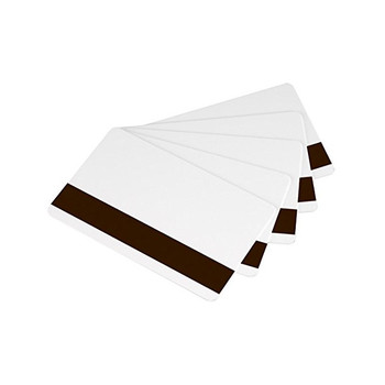 ZEBRA 104523-113 Premier PVC Card, Standard White CR80 30 mil. 3-Track High Coercivity Magnetic Stripe Cards - 500 ID cards