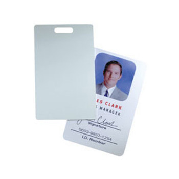 HID 1324GAV11 Glossy Label/Card ProxCard II size with slot punch, white adhesive back - Box of 100