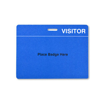 TEMPbadge Blue Reusable 3x4 in. Badge Back, Quantity 200 by Brady - 08179