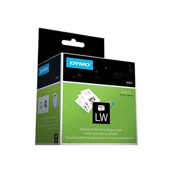 "DYMO LabelWriter 30857 Self-Adhesive Name Badges, 2 1/4"" x 4"", 1 Roll, 250 Badges"