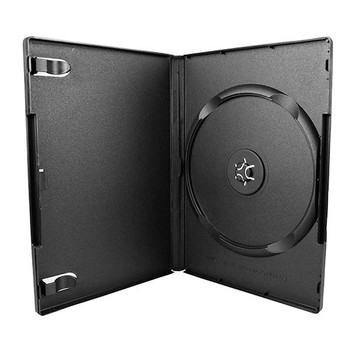 Standard DVD Case with Textured Interior with Literature Clips and Overlay - Open