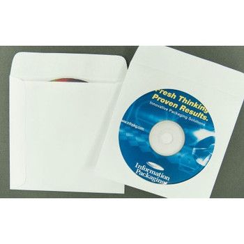 Paper CD/DVD Disc Sleeve with Window and Flap