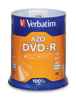 Verbatim DVD-R  4.7GB 16X Branded - 100PK Spindle