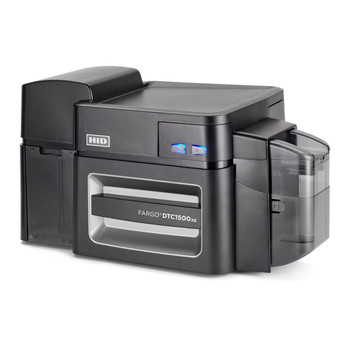 Fargo 51405 DTC1500 ID Card Printer - Dual-Sided - No Lamination