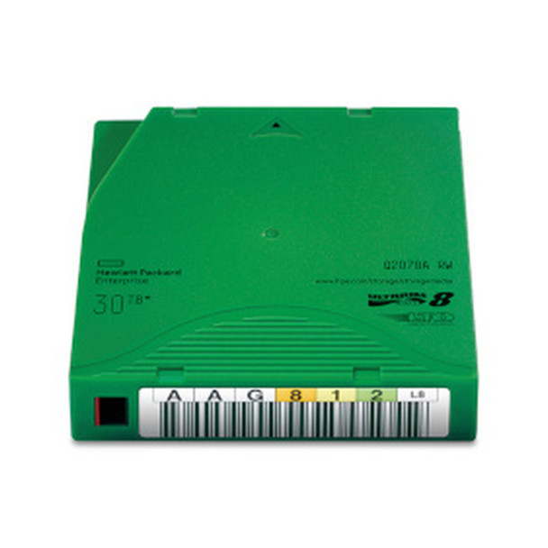 HPE LTO 8 Tape with Custom Barcode Label (BaFe) Q2078A-BC