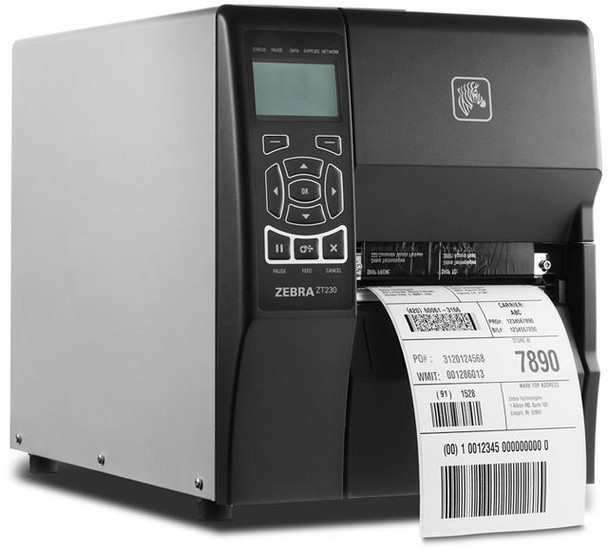 Zebra ZT230 Thermal Transfer Industrial Printer 203 dpi Print Width 4 in Serial USB Parallel ZT23042-T01100FZ