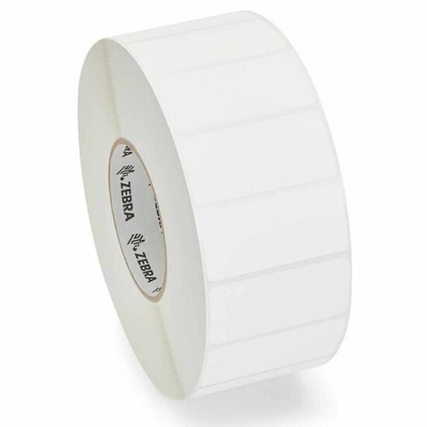 Zebra 10010036 - White Label, Paper, 1 x 3in, Direct Thermal, Z-Select 4000D, 1 in core, 6 Rolls/Carton