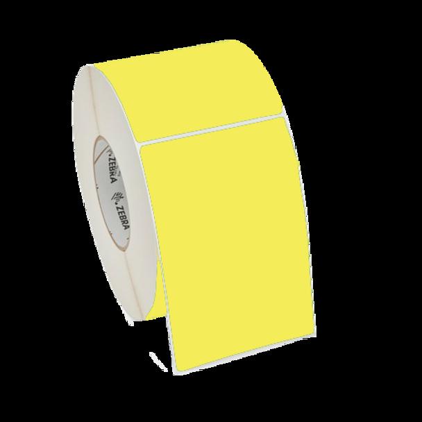 Zebra 10006208-1 - Yellow - Pantone Yellow Label, Paper, 4 x 6in, Thermal Transfer, Z-Perform 2000T, 3 in core, 4 Rolls/Carton