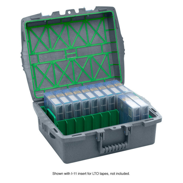 XpresspaX LTO Tape Storage Case.  This tape storage and transport case holds 18 LTO Tapes in their plastic cases